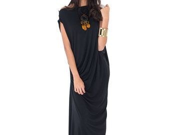 Black Evening Dress - Trendy Black Maxi Dress : Funky Elegant Collection No.9s