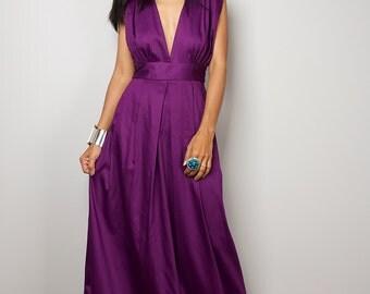Purple Maxi Dress - Long Formal Purple dress    : Oriental Secrets Collection II