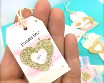 Soft Pastels Watercolor Mini Gift Tags -Romantic Gift Tags - Gift & Scrapbook Embellishments - Love Gifts, Love Tags - Wedding gifts