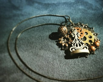 Checkmate- Ooak Steampunk Necklace