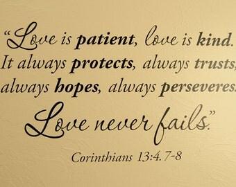1 Corinthians Bible Verse - Wall Decal