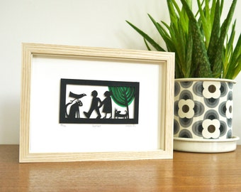 TOGETHER, Paper Cut Art of a Couple, Anniversary Gift, Wedding Paper Cut, Couples, Lovers, Paper Cut, Engagement, Couple, paper cutting