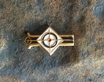 Vintage Military Pin Gold Plated U 20 K