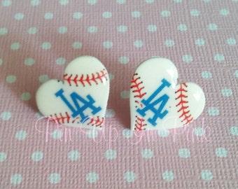 Dodgers Love Earrings