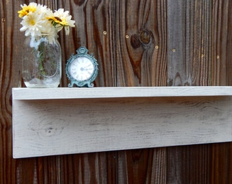 Rustic wood shelf, Wall decor, cottage beach ,home decor, Wood shelves
