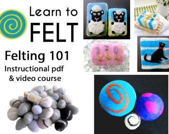 Learn To Felt, Felting 101, Introduction To Felting, Felting, Felting Course, Wet Felting, Felted Soap, Felted Balls, Felted Rocks, Tutorial