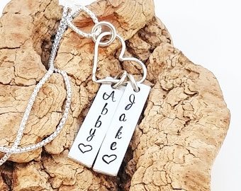 Mother's necklace - Mother's Day necklace - Custom mom jewelry - Personalized Necklace -  Hand Stamped Mom Necklace - Mommy Jewelry