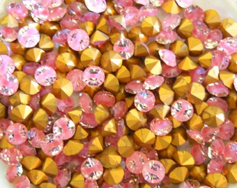 Swarovski 1100 Rose Givre 24ss Vintage Crystal Chatons F - 12 Pieces