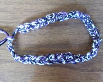3 strand double crochet friendship bracelet 6.5""
