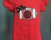 Football - Fall - Girls Shirt - Infant or Toddler  - Personalized - Monogrammed