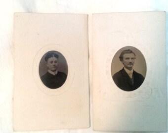 Original Tintype Gem Victorian Photograph Man and Woman