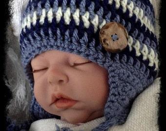 Crochet Baby boy Hat, Baby Boy Shower Gift