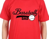 Baseball Dad Shirt,or Baseball Grandpa customized Shirt