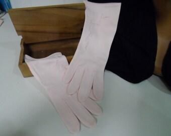 Gloves, vintage, Pretty in Pink, evening elegance.