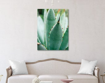 Agave Gallery Wrap Canvas, Succulent Canvas, Fine Art Photography, Nature Photography, Garden Art, Succulent Wall Decor, Botanical Art