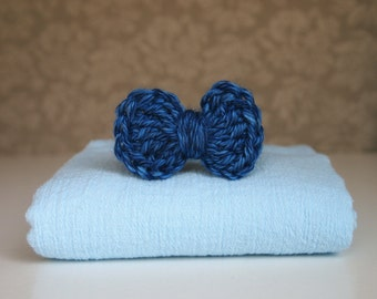 Newborn Wrap and Bow Tie, Newborn Boy Photography Prop, Cotton Wrap, Newborn Photo Prop, Crochet Bow Tie, Newborn Props, Baby Boy