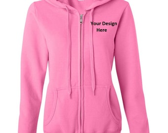 Ladies Custom Full-zip Hoodie--More Colors
