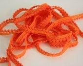 Mini Pom Pom Fringe - Orange