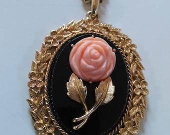 Avon Rose Mirror Pendant
