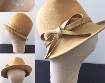 Vintage 1950s Glenover Henry Pollak NY Wool Hat
