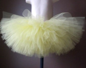 Yellow Baby Tutu, Skirt Only, Infant Toddler, Quick Shipping, Full Fluffy
