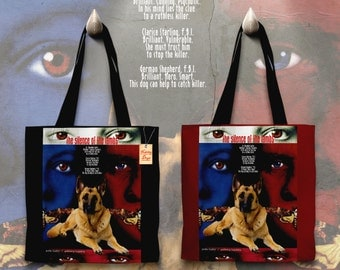 German Shepherd Art Tote Bag - The Silence of the Lambs Movie Poster   Perfect DOG LOVER Gift for Her Gift for Him