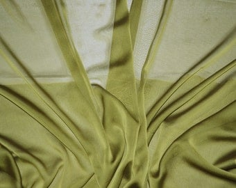 Olive iridescent two tone sheer Chiffon drapery wedding appeal fabric 50 yards