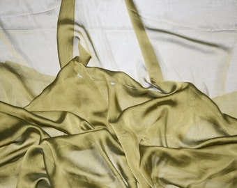 Black Gold iridescent two tone sheer Chiffon drapery wedding appeal fabric 50 yards