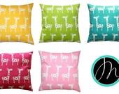 Childrens Pillow, Giraffe Pillow Cover, Nursery Decor, Baby Animal Prints, Zippered Pillow, Giraffe Decor, Crib Bedding, Decorative Pillows