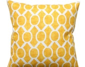 SALE Decorative Pillow- Premier Prints Yellow Sydney Trellis Pillow Cover- 16x16 inches or Choose Size- Zippered Pillow- Cushion Cover
