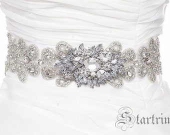 RITA Wedding crystal belt , sash