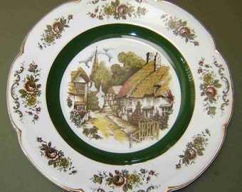 Reduced: Vintage ASCOT SERVICE PLATE (Charger) by Wood and Sons - Fine China from England - Circa 1970's - Was 11.50