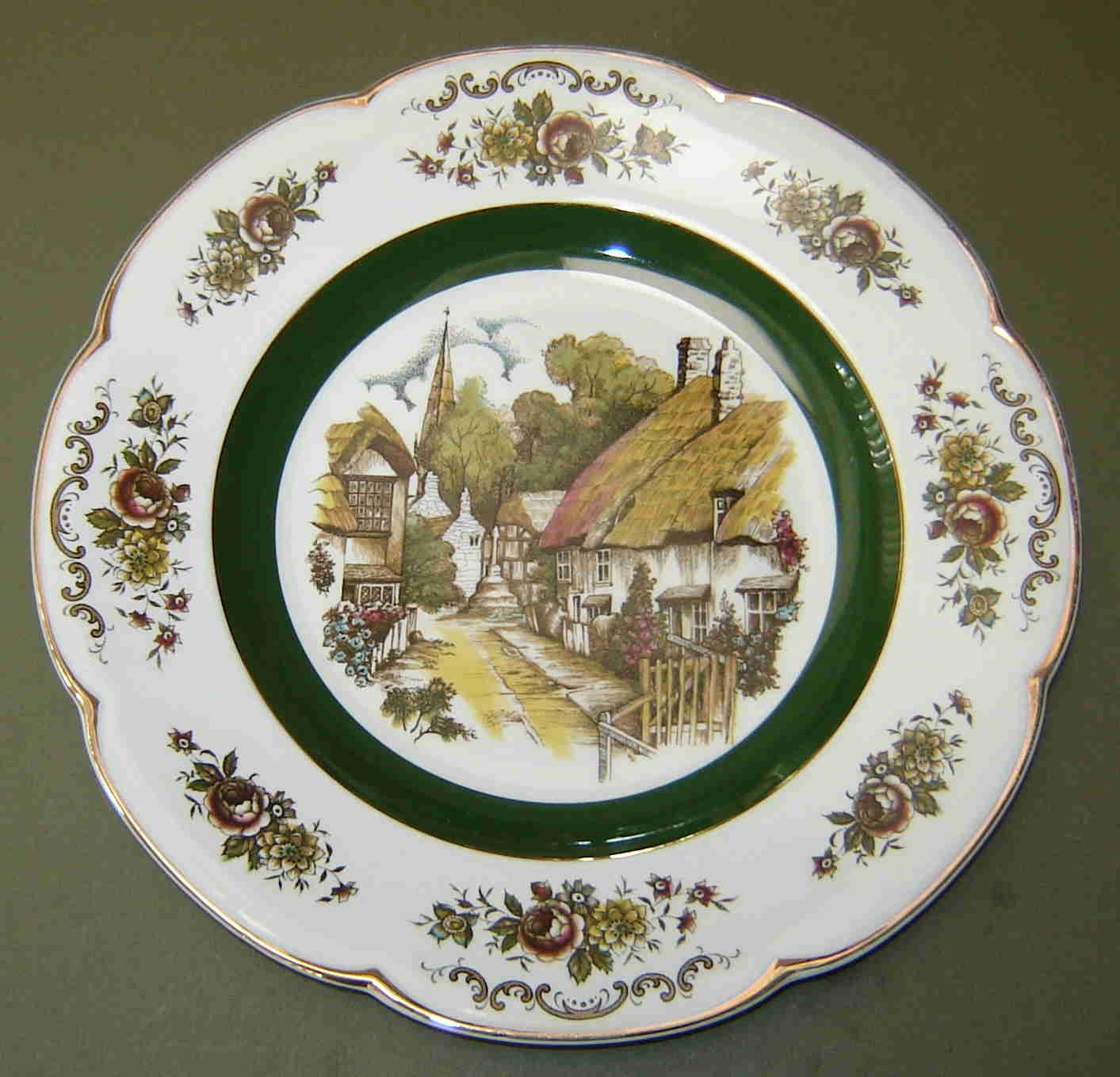 Reduced vintage ascot service plate charger by wood and for Alpine cuisine fine porcelain