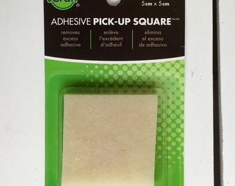 iCraft, Adhesive Eraser/Remover, Acid-free, non-toxic, rubber square, 2X2 in., removes excess adhesive for scrapbooking, paper crafting
