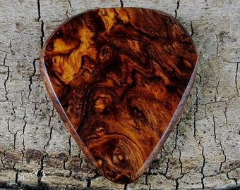 Honduran Rosewood Burl - EXTREMELY RARE WOOD - Limtited Availability - Grain Patterns and Colors Vary - Wood Guitar Pick