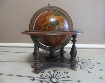 Vintage Terrestrial Globe Reproduction Globe  Old Globe Zodiac Globe