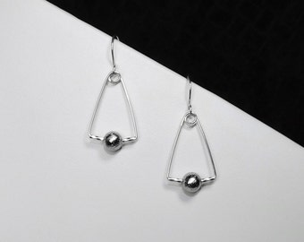 Gibeon Meteorite Earrings in Silver