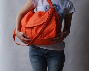 CHRISTMAS in July 30% + Mysterious Gift - Fortuner in Orange (Water Resistant) Shoulder bag / Messenger bag / Handbag / Purse/ Gift for her