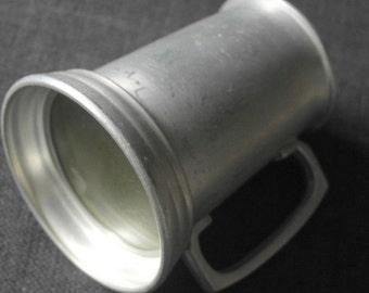 vintage aluminum glass bottom tankard