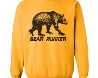 Bear Runner Sweatshirt - S M L Xl 2X (5 Color Options)