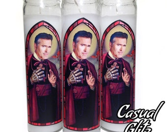 Bruce Campbell ( Army of Darkness) Pop Culture Prayer Candle (1)