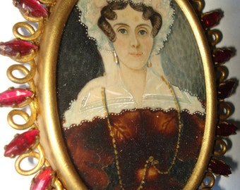 Miniature Georgian Portrait of Woman