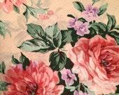 Vintage shabby cottage chic style FULL flat sheet