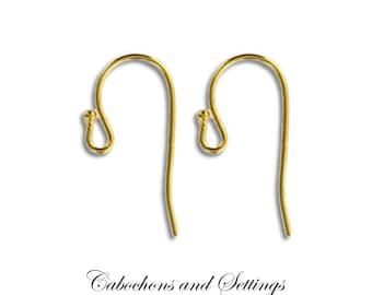 Very Stylish Gold French Ear Wire Hooks Hypo-Allergenic Nickel Free Earrings Import from USA - AUSTRALIA