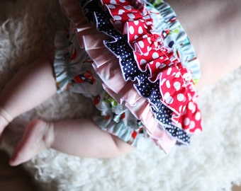 Up, Up and Away Ruffle Baby Bloomers