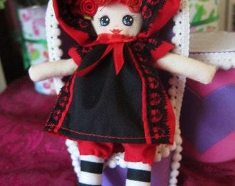 Mini Cloth Bunka Doll Hand Painted Face Kawaii