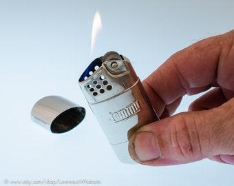 Working Chrome 1950s Tommy Stormproof Tank Pocket Lighter