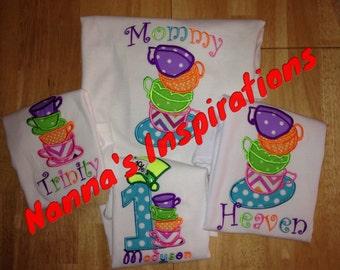 Custom made Tea Party birthday shirts Family shirts