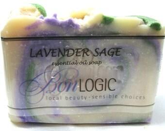 LAVENDER SAGE SOAP Scented w/Essential Oil by Bon Logic