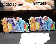 Moving Sale My Little Pony Planar Resin Cabochons Flatback Flat Back Scrapbooking Hair Bow Center Frame Card Making Crafts Embellishments